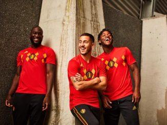 Belgický národní tým 2018 World Cup home kit vydal